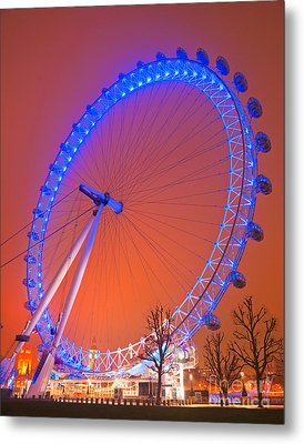 Metal Print featuring the photograph The London Eye by Luciano Mortula