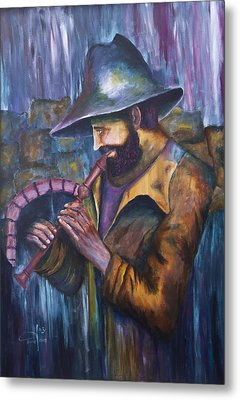 The Lonely Shepherd Metal Print by Itzhak Richter