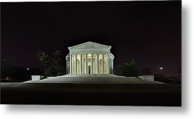 The Lonely Tourist At Jefferson Memorial Metal Print by Metro DC Photography
