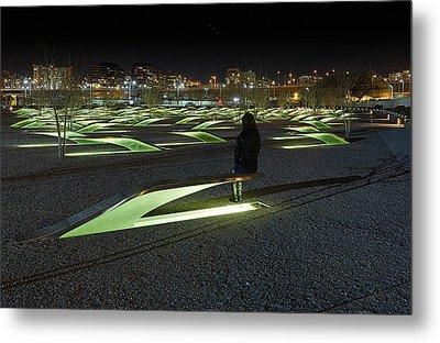 The Lonely Tourist At Pentagon Memorial Metal Print