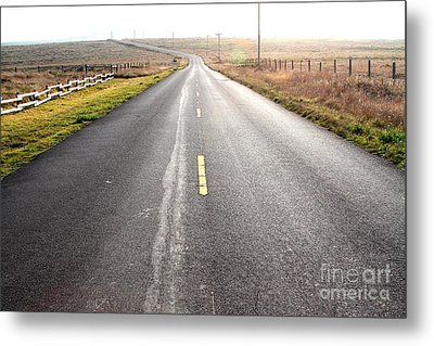 The Long Road Home . 7d9903 Metal Print by Wingsdomain Art and Photography