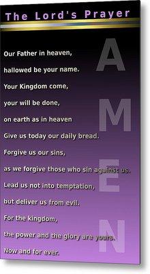 The Lord's Prayer Metal Print by Ricky Jarnagin