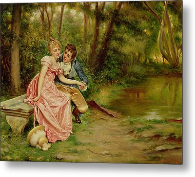 The Lovers Metal Print