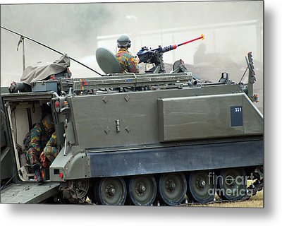 The M113 Tracked Infantry Vehicle Metal Print by Luc De Jaeger