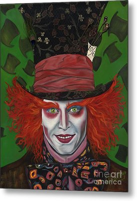 The Mad Hatter Metal Print by Viveca Mays