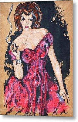 The Madame Metal Print by JW DeBrock