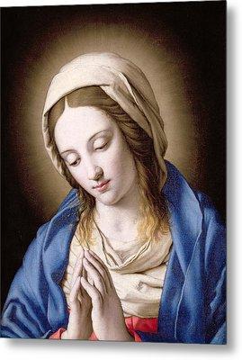 The Madonna Praying Metal Print