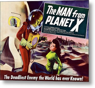 The Man From Planet X, Pat Goldin Title Metal Print by Everett
