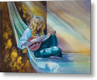 The Mandolin Player Metal Print by Gilly Marklew