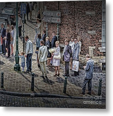 Metal Print featuring the photograph The Mass-goers Brussels by Jack Torcello