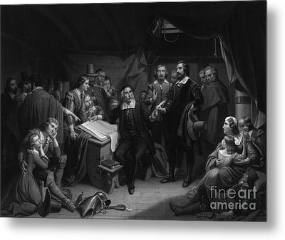 The Mayflower Compact, 1620 Metal Print by Photo Researchers