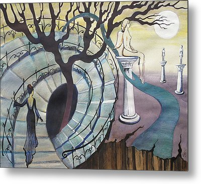 Metal Print featuring the painting The Maze by Valentina Plishchina