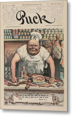 The Meat Market A 1906 Cartoon By Carl Metal Print by Everett