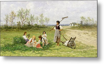 The Midday Rest Metal Print by Franciszek Streitt