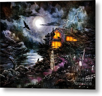 The Midnight Dreary Metal Print by Laura Iverson