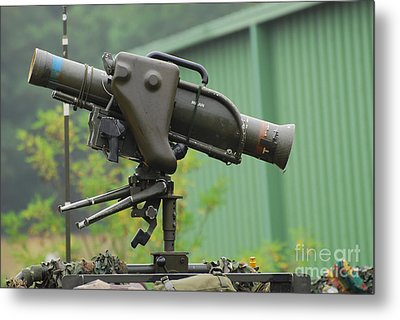 The Milan, Guided Anti-tank Missile Metal Print by Luc De Jaeger