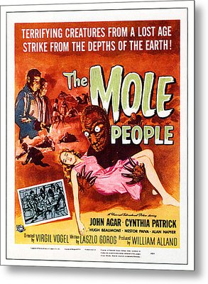 The Mole People, Upper Left Metal Print by Everett