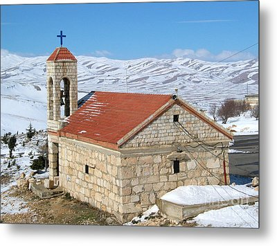 The Monastery Of Sheirobeem Metal Print by Issam Hajjar