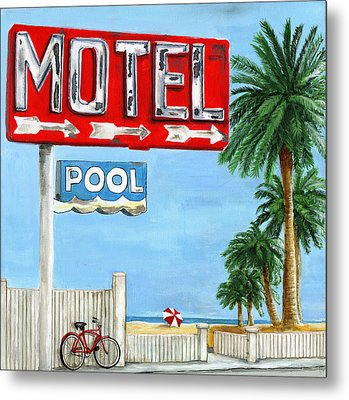 The Motel Sign Metal Print by Debbie Brown