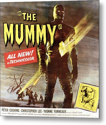 The Mummy, Christopher Lee, 1959 Metal Print by Everett
