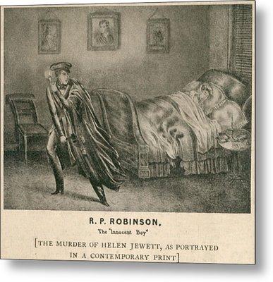 The Murder Of Helen Jewett In 1836 Metal Print by Everett