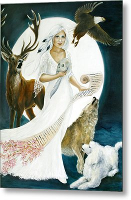 The Muse Metal Print by Ann Beeching