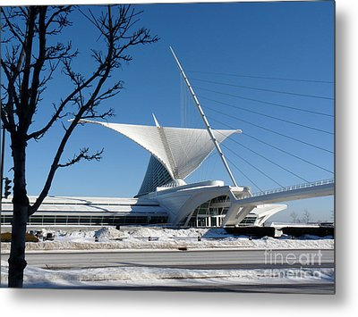 The Museum In Winter Metal Print by David Bearden