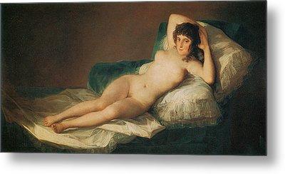 The Naked Maja Metal Print by Francisco Goya