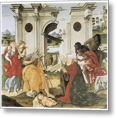 The Nativity Metal Print by Francesco Di Giorgio Martini
