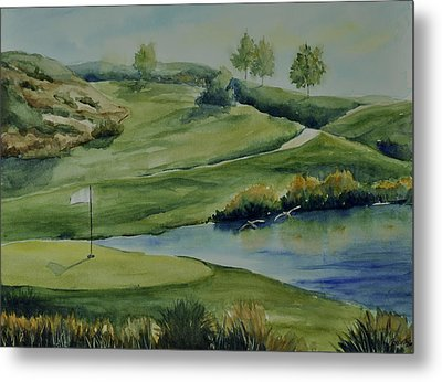 The Nature Of Golf At Tpc Metal Print by Sandy Fisher