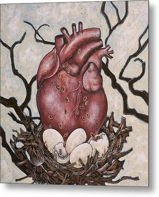 The Nest Of My Heart Metal Print