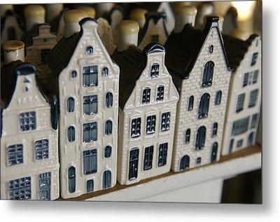 The Netherlands, Amsterdam, Model Houses Metal Print by Keenpress