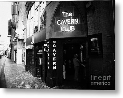 The New Cavern Club In Mathew Street In Liverpool City Centre Birthplace Of The Beatles Merseyside Metal Print by Joe Fox