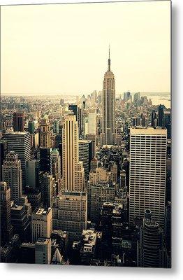 The New York City Skyline Metal Print by Vivienne Gucwa