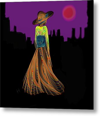 The Night With Kimono Metal Print by Hayrettin Karaerkek
