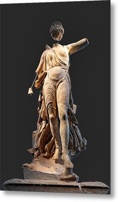 The Nike Of Paeonios - Ancient Olympia Metal Print by Constantinos Iliopoulos