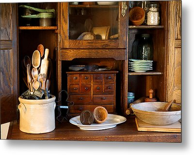 The Old Baker Metal Print by Carmen Del Valle