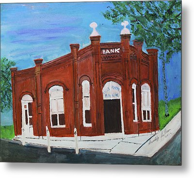 Metal Print featuring the painting The Old Bank by Swabby Soileau