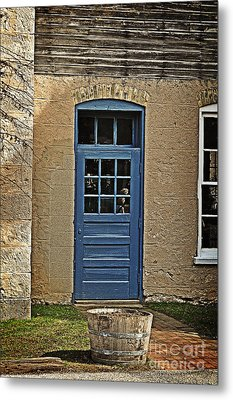 The Old Blue Door Metal Print by Mary Machare