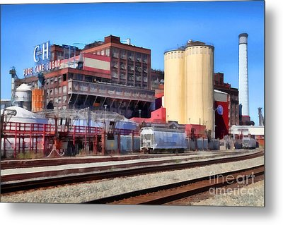 The Old C And H Pure Cane Sugar Plant In Crockett California . 5d16770 Metal Print by Wingsdomain Art and Photography