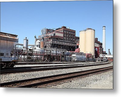 The Old California And Hawaii Sugar Company In Crockett California . C And H . 5d16766 Metal Print by Wingsdomain Art and Photography
