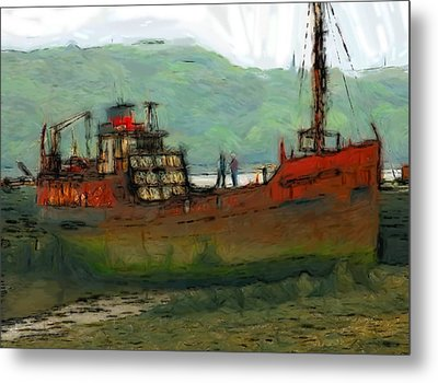 The Old Fishing Trawler Metal Print by Steve K