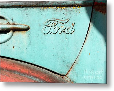 The Old Ford Jalopy . Nostalgia In Abstract . 7d12892 Metal Print by Wingsdomain Art and Photography