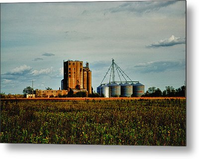 The Old Grain Mill Metal Print by Kelly Reber