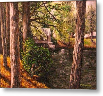 The Old Grist Mill Metal Print by Laurie Golden