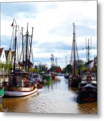 The Old Harbor Metal Print by Steve K