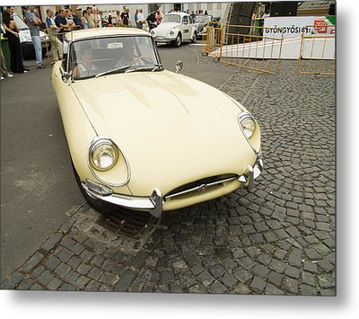 The Old Jaguar Metal Print by Odon Czintos