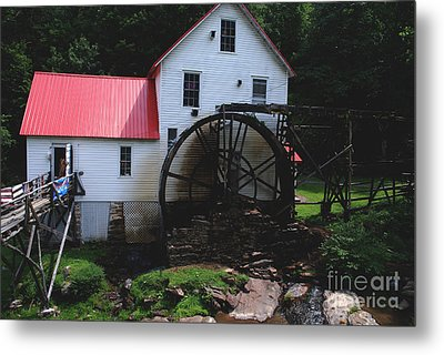 The Old Mill 1886 In Cherokee North Carolina Metal Print by Susanne Van Hulst