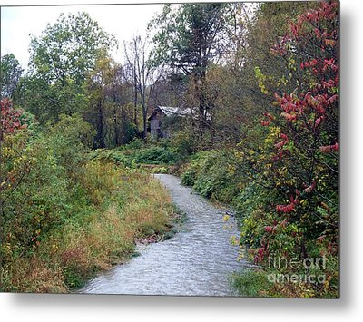 The Old Mill Stream Metal Print by Christian Mattison