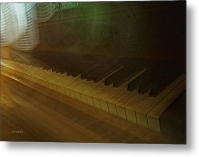 The Old Piano Metal Print by Donna Blackhall